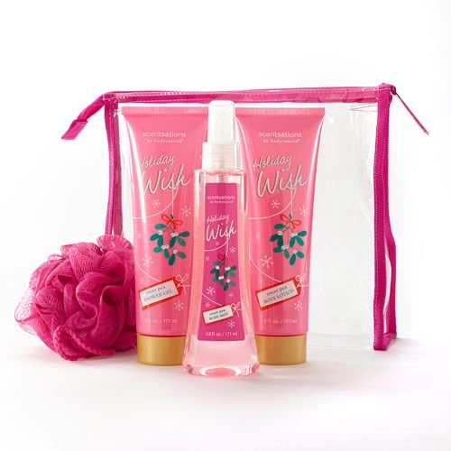 Scentsations Sweet (Scentsations Sweet Pea Shower Gel, Body Mist & Body Lotion Bag Set)