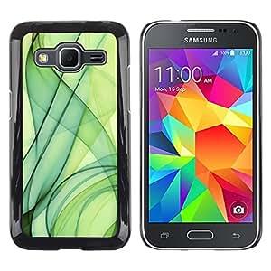 YiPhone /// Prima de resorte delgada de la cubierta del caso de Shell Armor - Green Smoke - Samsung Galaxy Core Prime SM-G360