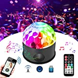 YPINGLI Colorful 9W Sound Activated USB LED Crystal Ball Stage Light Remote Bluetooth Disco Party LED Lights