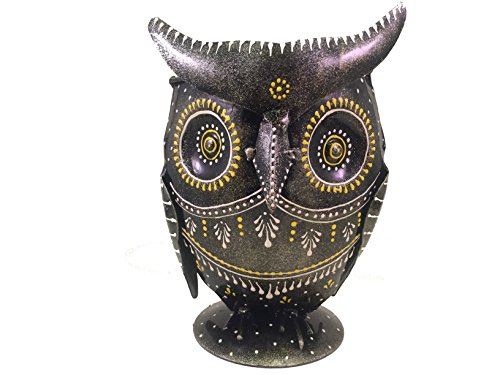 Owl Pencil Holder Cup – Hand Painted Metal Owl - Art Decor – Unique Desk Accessory – Pen (Unique Classroom Themes)