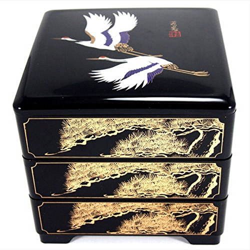 (JapanBargain 4119 Japanese Stack Box 7-3/4 x 7-3/4 x 8 in Black)