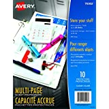 "Avery Multi-Page Capacity Sheet Protectors, Clear, Fits Letter Size -8.5"" x 11"", 50 Page Capacity per Sheet, 10 Sheets (75302)"
