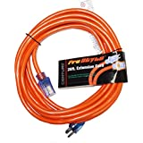 ProStyle 12 Gauge SJTW 3 Conductor 25 Foot Extension Cord With Lighted Ends - Orange