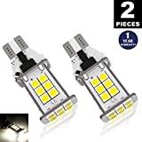 Automotive : LUYED 2 X 1550 Lumens Extremely Bright Error Free 921 912 W16W 3030 24-EX Chipsets LED Bulbs Used For Backup Reverse Lights, Xenon White(Brightest backup light on the market)
