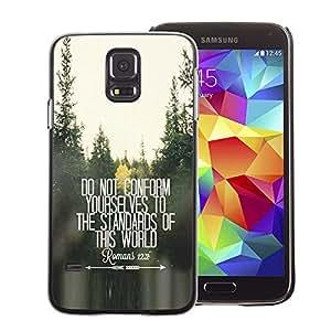 A-type Arte & diseño plástico duro Fundas Cover Cubre Hard Case Cover para Samsung Galaxy S5 (Do Not Conform Inspiring Free Quote)