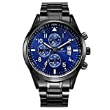 LUCAMORE Mens Luxury Casual Watch Quartz Analog Stainless Steel Band Waterproof Date Business Watch