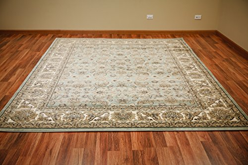 Blues Vintage Amps (Pearington Traditional 8' X 10' Vintage Distressed Blue Persian Area Rug,, Blue & Beige)