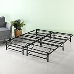 The Zinus SmartBase Bed Frame is a steel mattress foundation that eliminates the need for a box spring. It requires no tools for assembly and can be put together in minutes. The SmartBase Mattress Foundation provides the ultimate in support f...