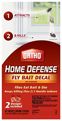 (Ortho 071549049102 Home Defense Fly Decal for Windows 2ct-3 Pack = 6 Baits T)