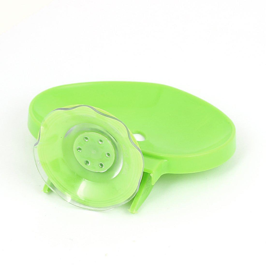 Amazon.com: De plástico en Forma de corazón montado en la pared de la cocina ventosa jabón Titular Verde: Home & Kitchen