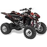 AMR Racing Kawasaki KFX450, KFX450r ATV Quad, Graphic Kit - Madhatter: Red Si...