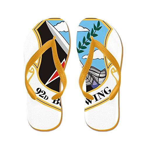 CafePress 92Nd Bomb Wing.PNG - Flip Flops, Funny Thong Sandals, Beach Sandals Orange