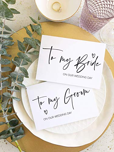 - Simple To My Bride and To My Groom On Our Wedding Day Card Set For Husband and Wife