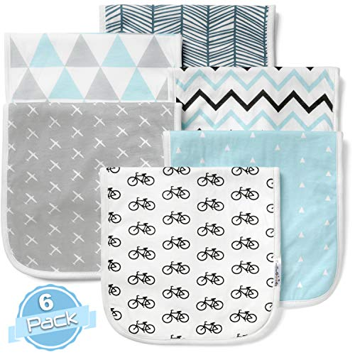 Baby Burp Cloths Set (6 Pack), Super Soft Cotton, Large 21