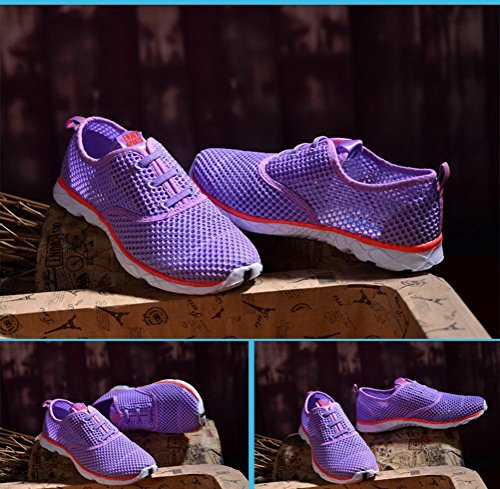 Mesh Water Men's Breathable Shoes Quick Drying Aqua Up Purple Women's Lace E74qR