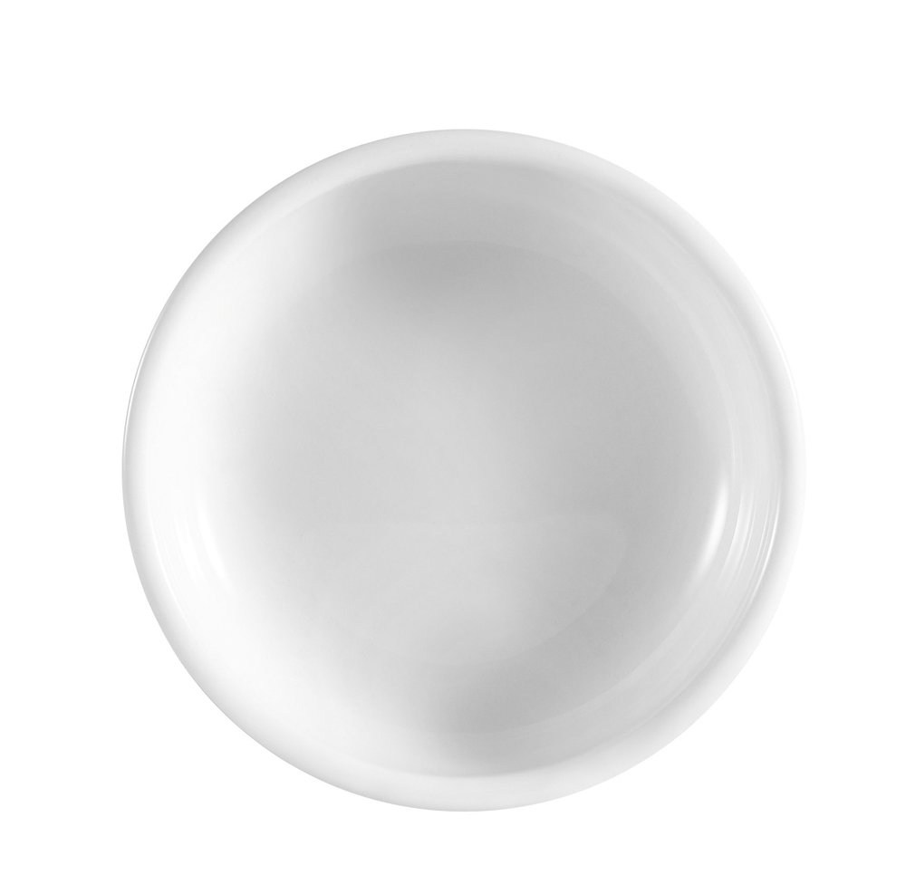 CAC China KRW-S3 Accessories 3-1/2-Inch by-1/2-Inch Porcelain Small Dish, 2-Ounce, Super White, Box of 72