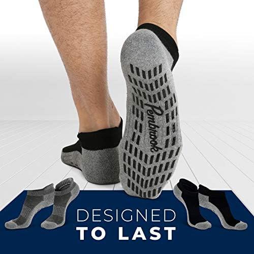 Calcetines antideslizantes para tobillo (4 pares) – Calcetines antideslizantes para yoga, pilates, maternidad, embarazo, hospital, adultos, hombres y mujeres 10