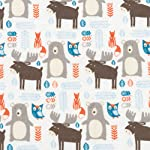 Trend-Lab-100-Cotton-Scandi-Forest-Deluxe-Flannel-Fitted-Crib-Sheet