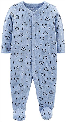 Price comparison product image Carter's Baby Boys Cotton Footed Sleep N Play (Newborn,  Blue Puppy Print)