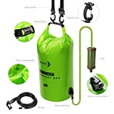 Water Filter Bag System,15L High-Volume Gravity-Fed Water Purifier,Portable Dry Bag and Outdoor Hydration Pack with 1 Shower And 1 Hollow Fiber Filter Module for Camping and Adventures