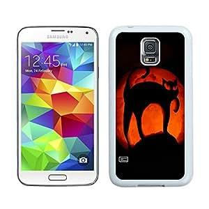 Popular Sell Halloween Pumpkin art White Samsung Galaxy S5 Case 1 wangjiang maoyi
