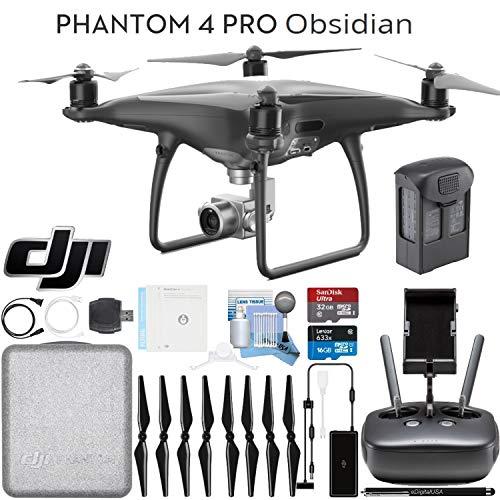 DJI Phantom 4 Pro Obsidian Quadcopter Drone Ready To Fly Bundle