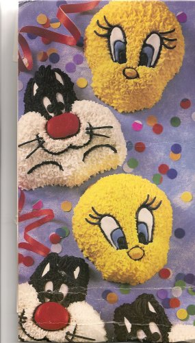 Wilton Cake Pan: Sylvester and Tweety Mini Treats Cupcake / Muffin / Candy Mold / Pan (2105-8471, 1994) ~ 6 Single Cavities