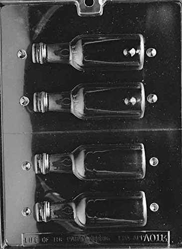 Medium Bottle Chocolate Mold - AO113 - Includes Melting & Chocolate Molding Instructions (Beer Bottle Mold)