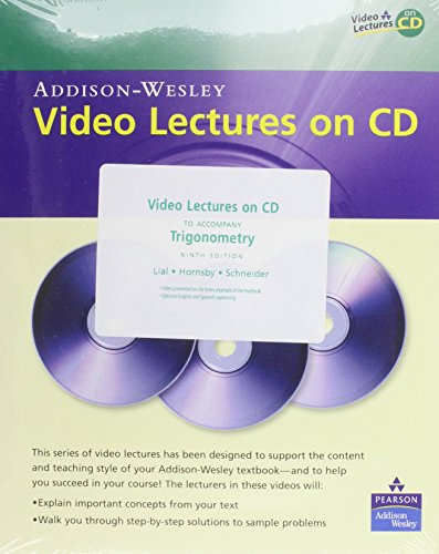 Video Lectures on CD with Optional Captioning for Trigonometry