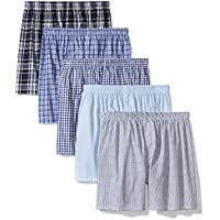 [Patrocinado] Amazon Essentials Mens 5-Pack Patterned Tagless Boxers