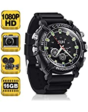 1080P HD Spy Watch Camera - Pinhole Video Recorder Support Photo Taking, Voice Recording, 16GB Memory Built-in