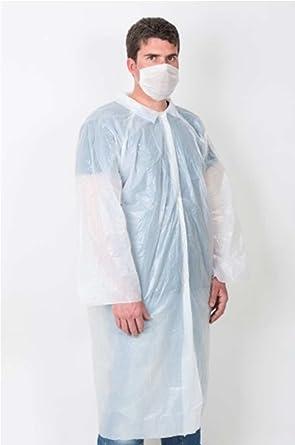 22903-Bata protección médica desechable para: clínicas - laboratorios - esteticien - alimentación -