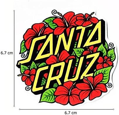 Santa Cruz adhesivo (tamaño W8.5 x h8.3 centímetro) coche motocicleta bicicleta monopatín portátil equipaje vinilo adhesivo Graffiti adhesivo para parachoques adhesivo: Amazon.es: Juguetes y juegos