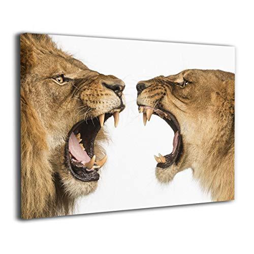 Lion Roar Picture (Mintslove Art Decor Lion Lioness Roar Art Creative 16