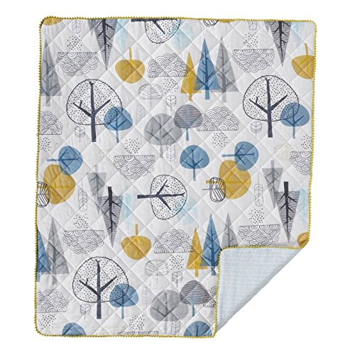Lolli Living Baby Quilted Comforter in Woods Print. 100% Cotton Modern Quilted Baby Comforter (50x40 inch) (Baby Comforter Bed)