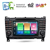 XTRONS Android 6.0 Octa-Core 64Bit 7 Inch Capacitive Touch Screen Car Stereo Radio DVD Player GPS CANbus Screen Mirroring Function OBD2 Tire Pressure Monitoring for Mercedes Benz W203 W209