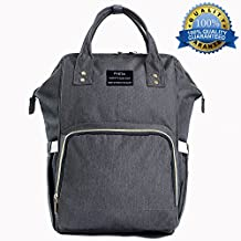 Diaper Bag Nappy Bags for Baby Care Multi-Function Mommy Bag Waterproof Travel Backpack Large Capacity Stylish and Durable Perfect for Travel Work or Outing PYETA (grey)