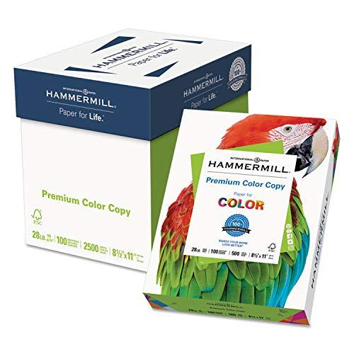 Premium Bright Paper White - Hammermill Copy Paper, 100 Brightness, 28lb, 8-1/2 x 11, Photo White, 2500/Carton