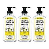 J.R. Watkins Hand Soap, Gel, 11 fl oz, Lemon (3 pack)