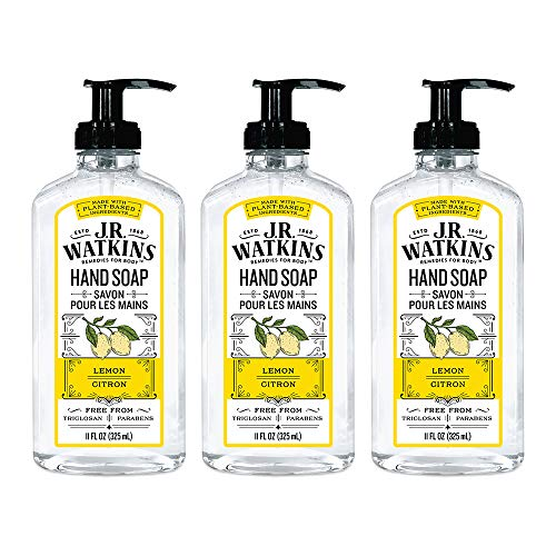 (J.R. Watkins Hand Soap, Gel, 11 fl oz, Lemon (3 pack))