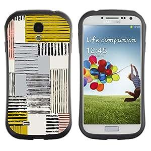 Suave TPU GEL Carcasa Funda Silicona Blando Estuche Caso de protección (para) Samsung Galaxy S4 I9500 / CECELL Phone case / / Abstract Mustard Yellow Lines Checkered /