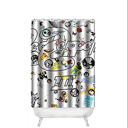Alice Tone Band Led Zeppelin Bathroom Custom Shower Curtain Waterproof 100 Polyter Amazoncouk Kitchen Home