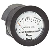 Dwyer Mini-Photohelic Series MP Differential Pressure Switch/Gauge, Range 0-10''WC
