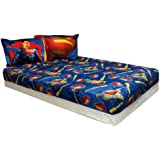 Superman Twin Sheet Set 3pc Super Steel Bedding Accessories