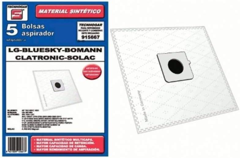 Recamania Bolsa Sintetica Aspirador LG Solac Bluesky Bomann 5 ...