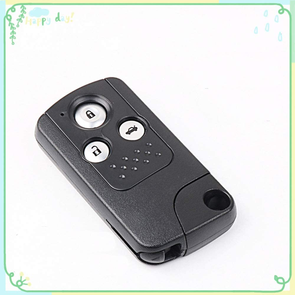1 Sets 2-Buttons 433Hz Car Fob Keyless Entry Intelligent Smart Card Alarm Key Remote Control /& Uncut 47 Chips Key Combo Replacement for Honda New Fit 2015 XRV Vezel
