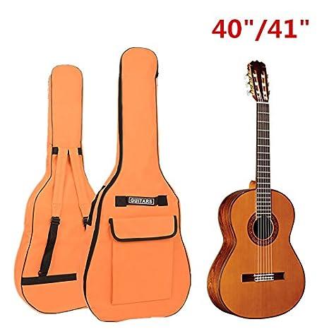 Origlam 40/41 inch Funda para guitarra resistente al agua Oxford bolsa de tela, doble correas ...