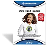 """Printworks White T-Shirt Transfers for Inkjet Printers, For Use on White Fabrics Only, Photo Quality Prints, 10 Sheets, 8 ½"""" x 11"""" (00480)"""