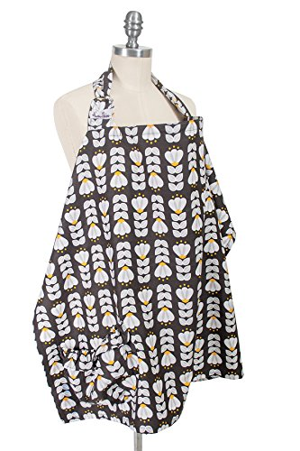 Hooter Hiders Premium Cotton Nursing Cover - Tulipa by Bebe au Lait (Image #1)