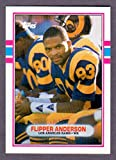 : Flipper Anderson 1989 Topps Traded Rookie Card *Great Centering* (Rams)